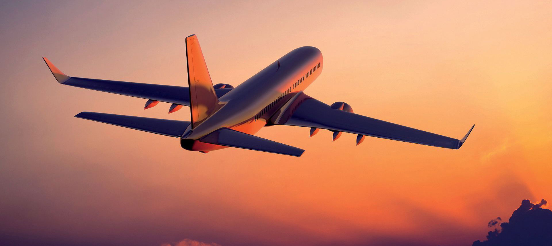 airplane-in-the-sunset
